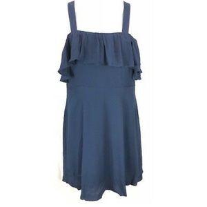 Madewell Navy Ruffle Dress